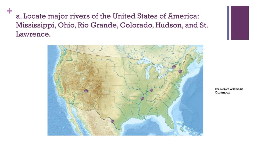 Map Of The United States With Major Rivers Grade Gse Source Set - Rio grande river world map