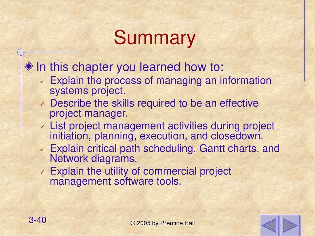 Chapter 3 managing the information systems project ppt download 40 summary nvjuhfo Image collections