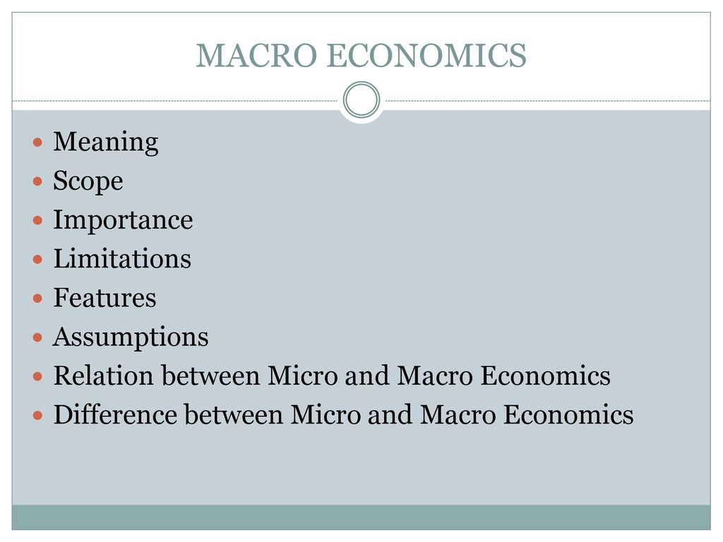 differences between micro and macro estimating approaches There are large differences between the microeconometeric when estimating the micro compositions to explain the gap between the macro and micro.