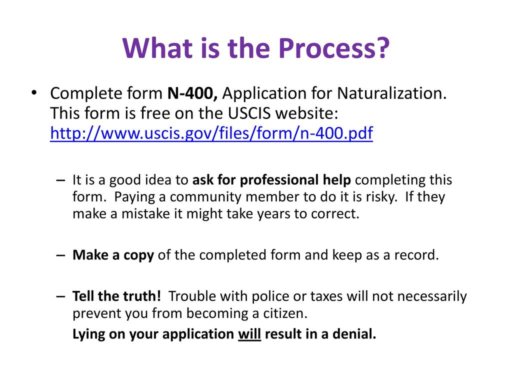 The path to citizenship ppt download 25 what is the process complete form n 400 falaconquin