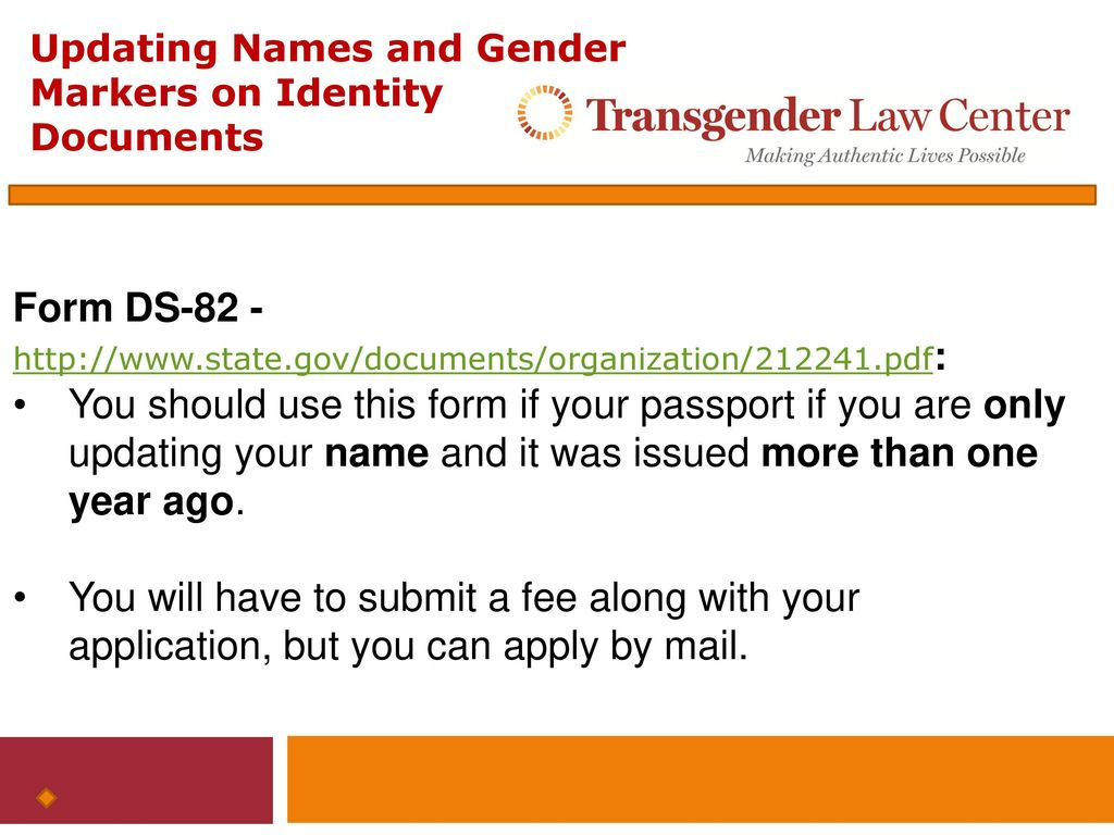 Updating names and gender markers on federal identity documents 17 form ds 82 falaconquin