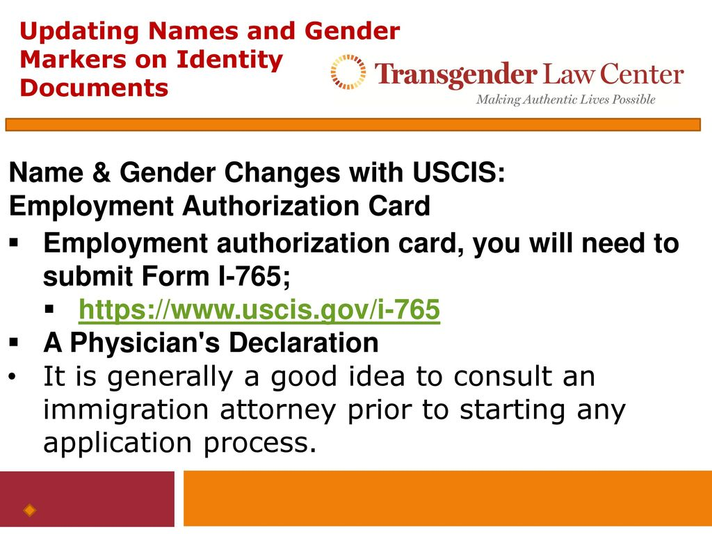 Updating names and gender markers on federal identity documents 26 name falaconquin