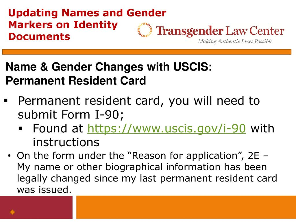 Updating names and gender markers on federal identity documents name gender changes with uscis permanent resident card falaconquin