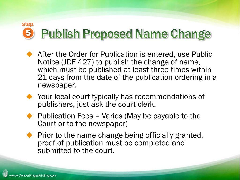 notice name change