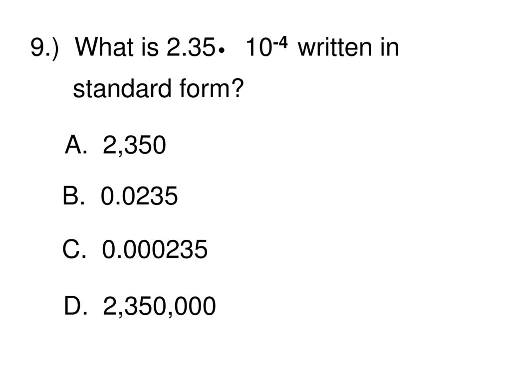 Eog math strategies race to the finish ppt download what is 235 10 4 written in standard form falaconquin