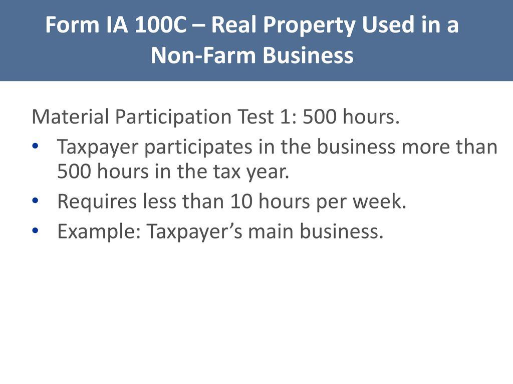 Iowa tax law legislative update iowa capital gain deduction ppt 58 form falaconquin