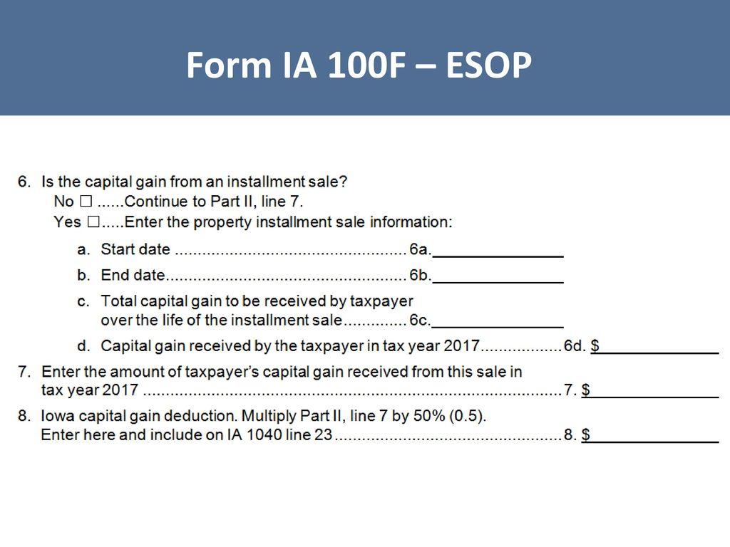 Iowa tax law legislative update iowa capital gain deduction ppt 78 form falaconquin