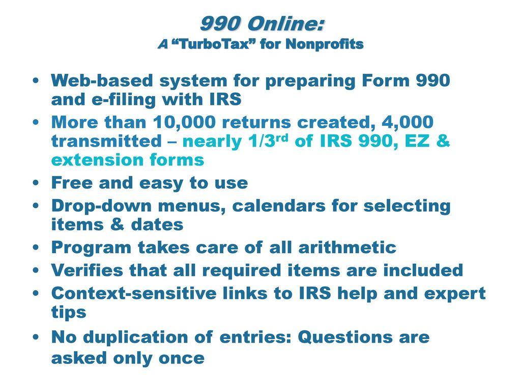 turbo tax form 990 - Hunt.hankk.co