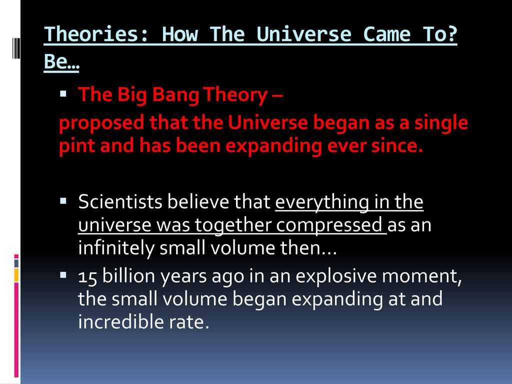 a comparison of the big bang theory and steady state theory Steady-state theory definition: a cosmological theory postulating that the universe  exists throughout time in a steady   meaning  compare big-bang theory.