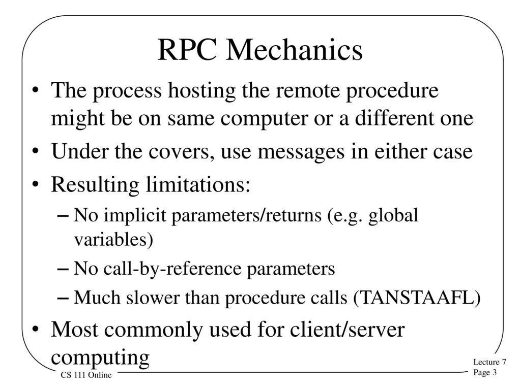 Remote procedure calls ppt download 3 rpc mechanics baditri Image collections