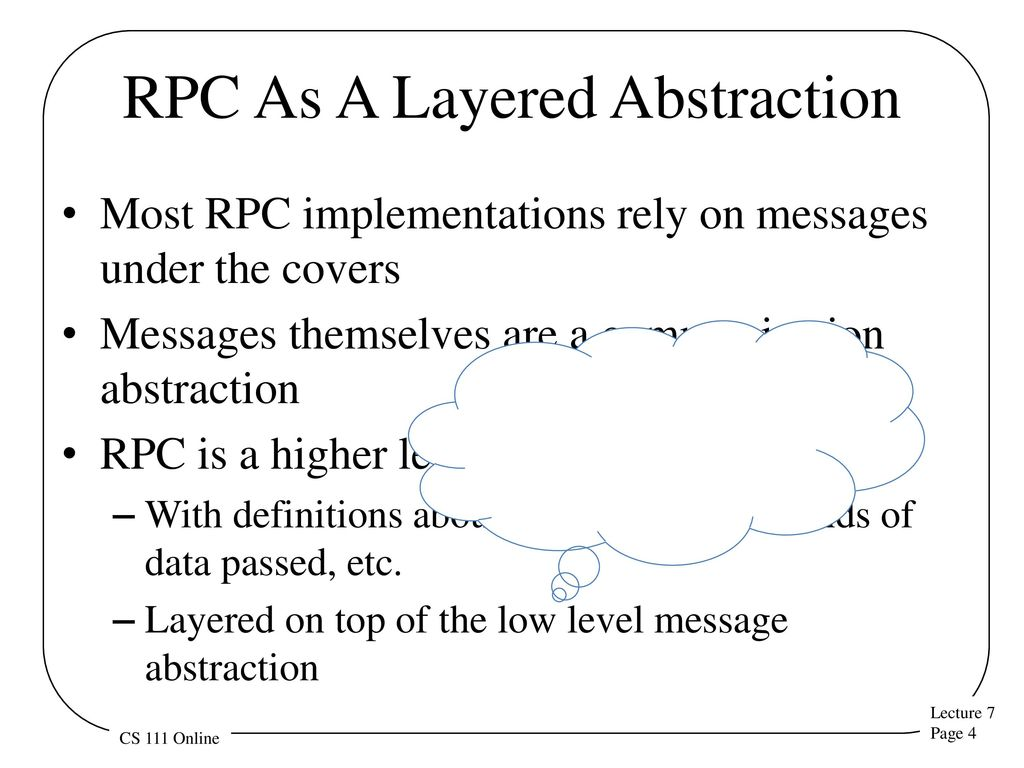 Remote procedure calls ppt download rpc as a layered abstraction baditri Image collections