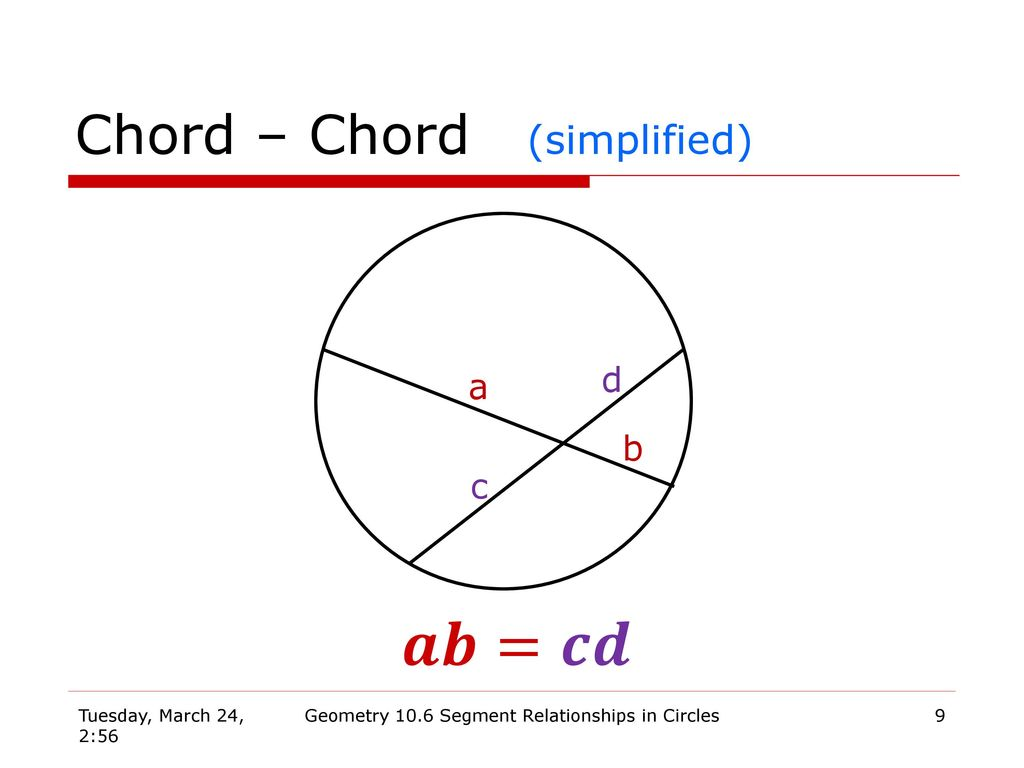 Geometry 106 segment relationships in circles ppt download 9 chord hexwebz Gallery