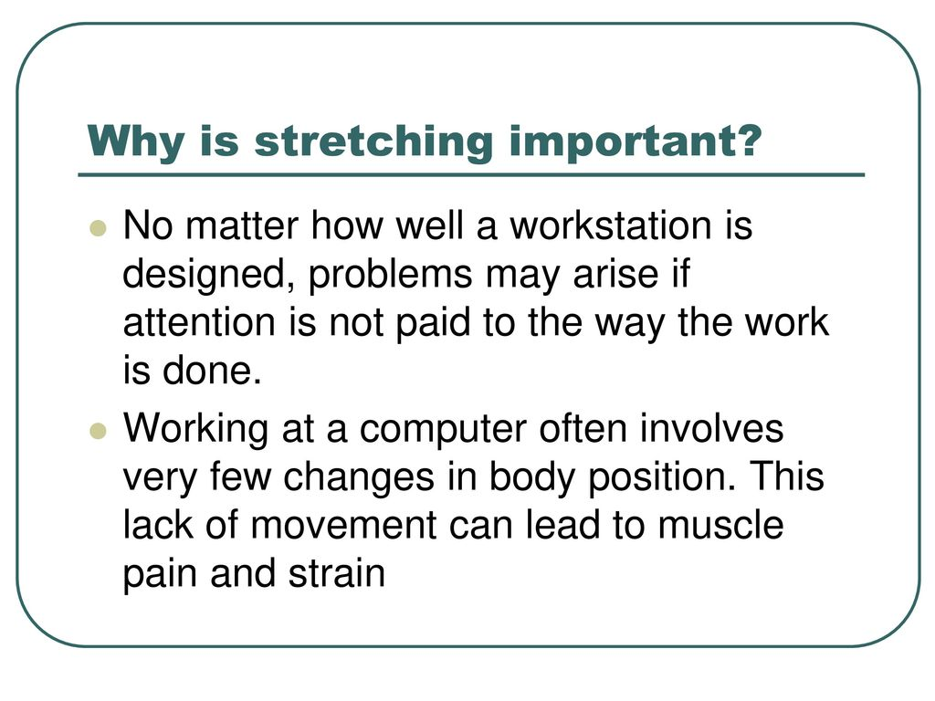 Stretching while at your desk