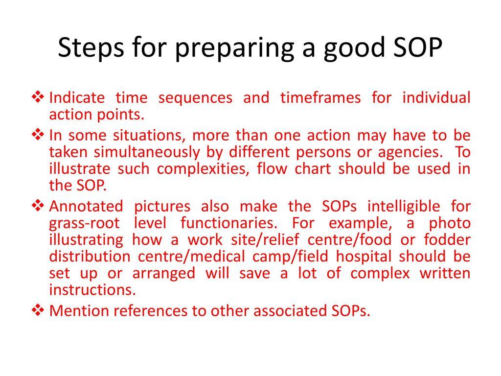 Steps For Preparing A Good SOP