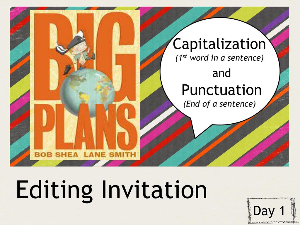 Welcome back teachers during this week of school we created a editing invitation capitalization and punctuation day 1 stopboris Image collections