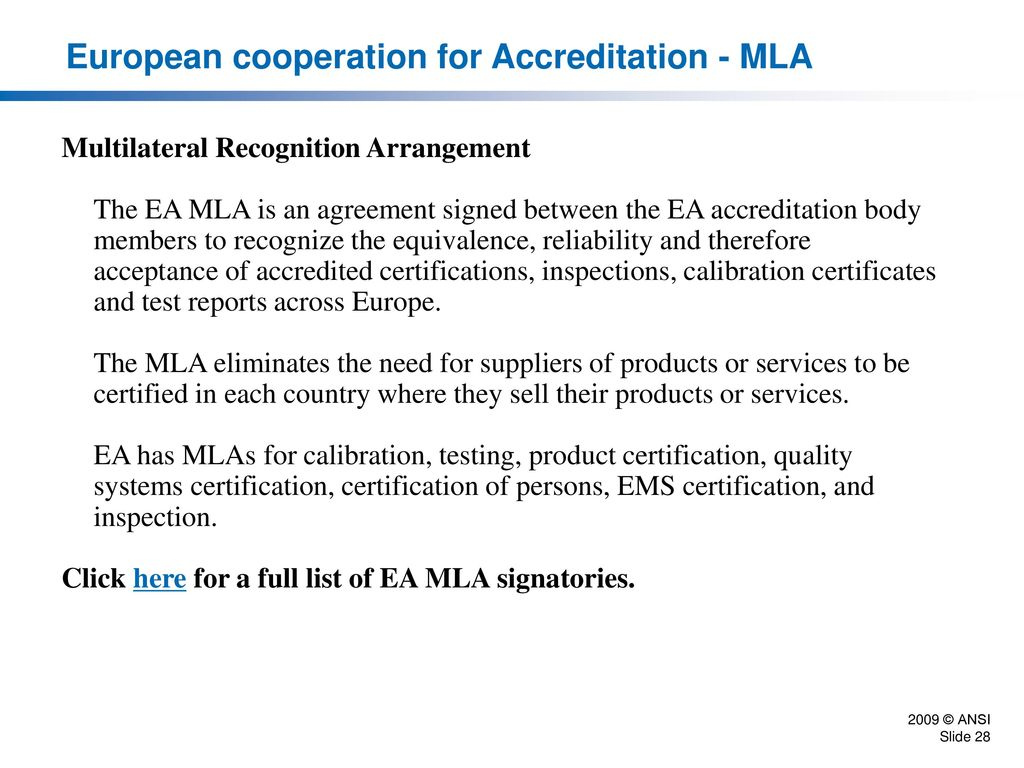 International conformity assessment system ppt download 28 european cooperation 1betcityfo Choice Image