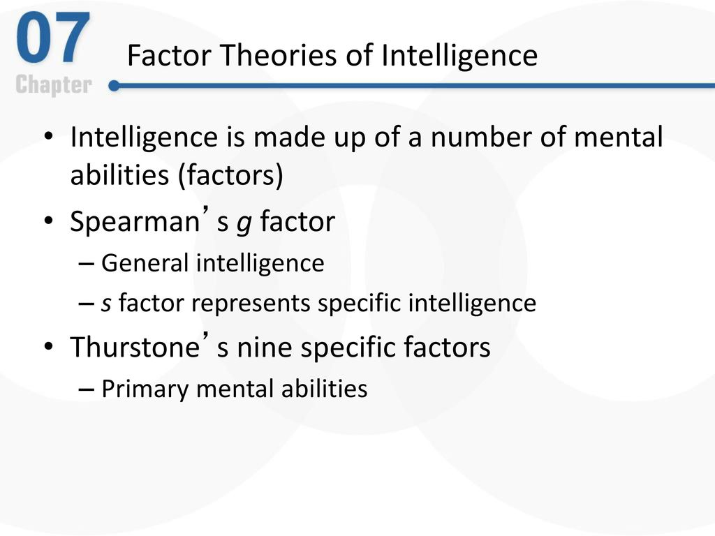Chapter 7 thinking language intelligence ppt download factor theories of intelligence biocorpaavc Image collections