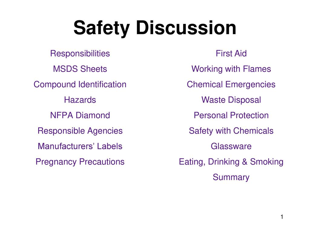 Safety discussion responsibilities msds sheets compound safety discussion responsibilities msds sheets compound identification biocorpaavc Choice Image