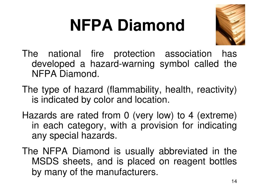 Safety discussion responsibilities msds sheets compound 14 nfpa diamond biocorpaavc Choice Image