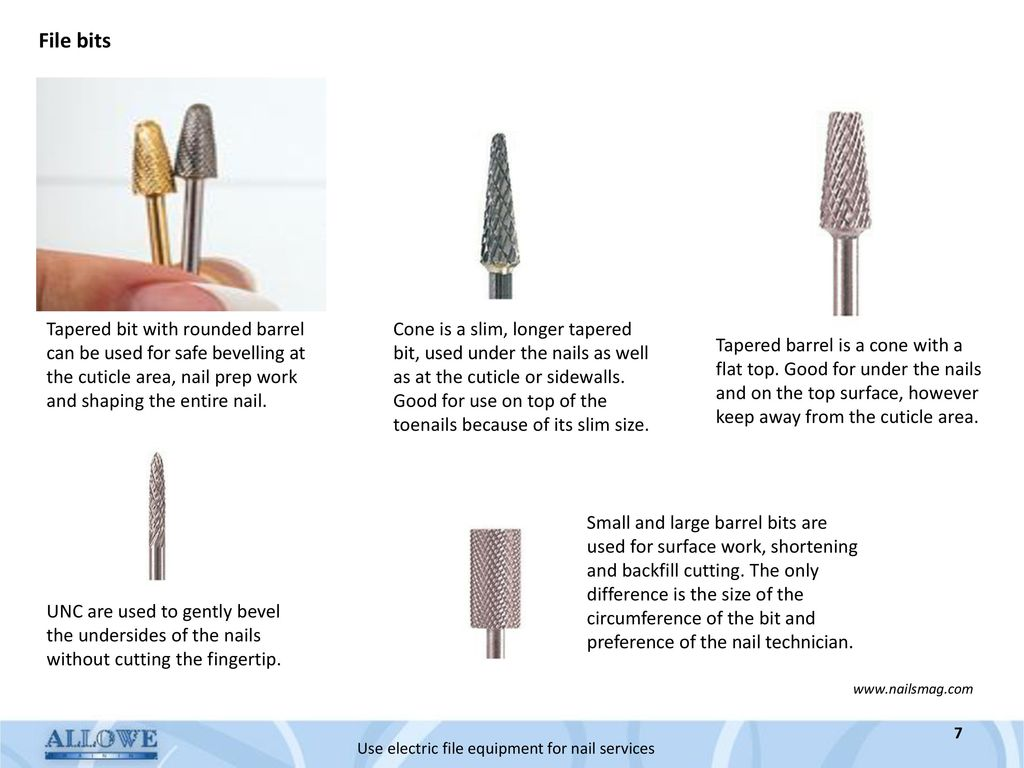 Use electric file equipment for nail services - ppt download