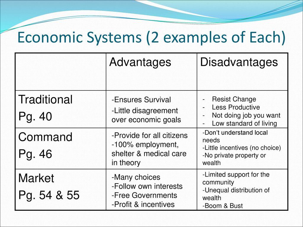 command economy advantages and disadvantages pdf