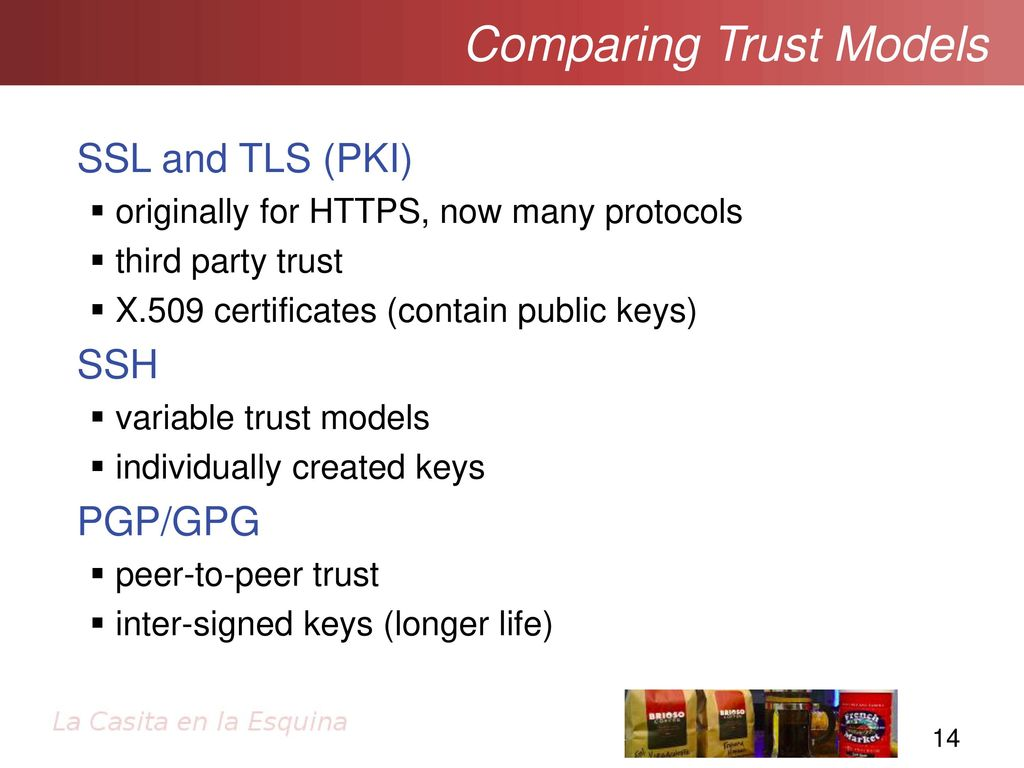 Ssltls and pki getting going with secure sockets ppt download 14 comparing trust models ssl and xflitez Images