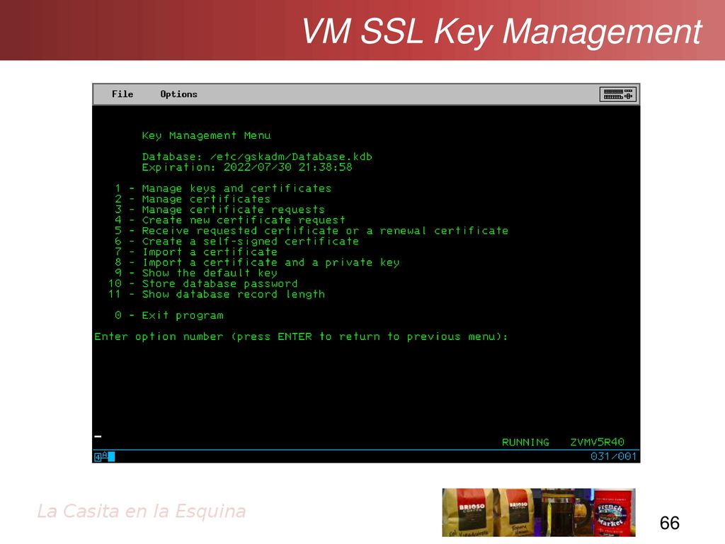Ssltls and pki getting going with secure sockets ppt download 66 vm ssl key management after creating a new database or opening an existing database you should get this menu 1betcityfo Image collections