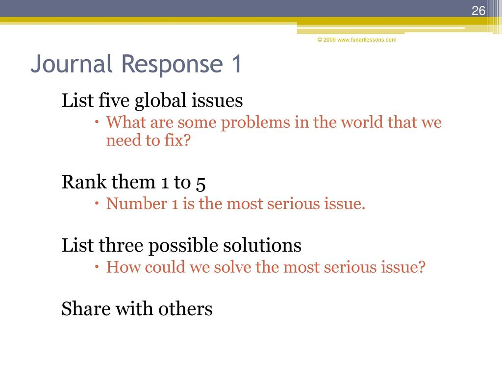 Press spacebar or down arrow to continue ppt download journal response 1 list five global issues rank them 1 to 5 sciox Gallery