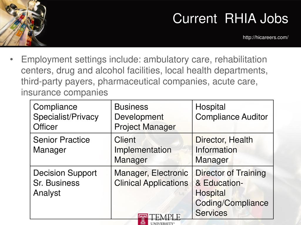 Health information professions ppt download current rhia jobs httphicareers 1betcityfo Images