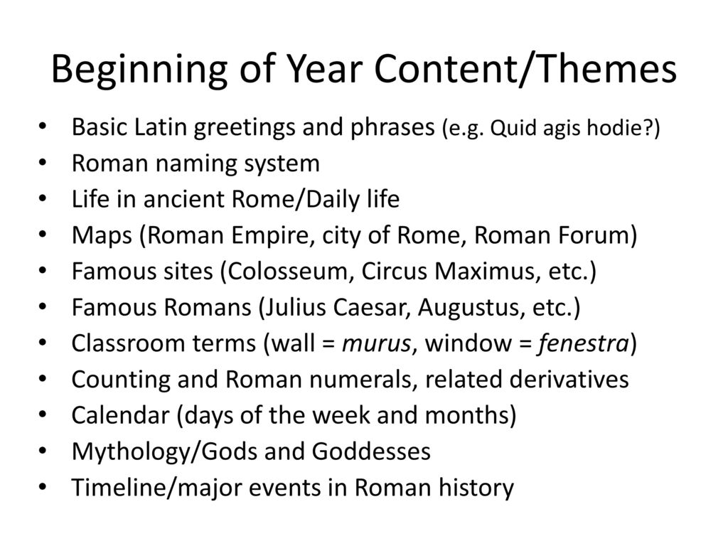 Presented this evening by ms jenny mykytenko ppt download 5 beginning of year contentthemes basic latin greetings m4hsunfo