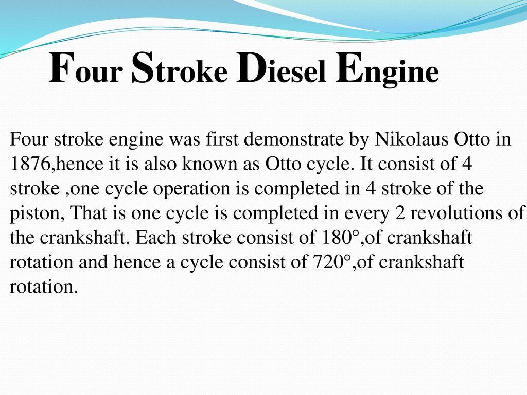 Four Stroke Diesel Engine on 4 Stroke Engine Cycle Diagram