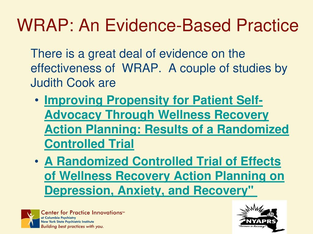 An Overview of the Wellness Recovery Action Plan: WRAP - ppt download
