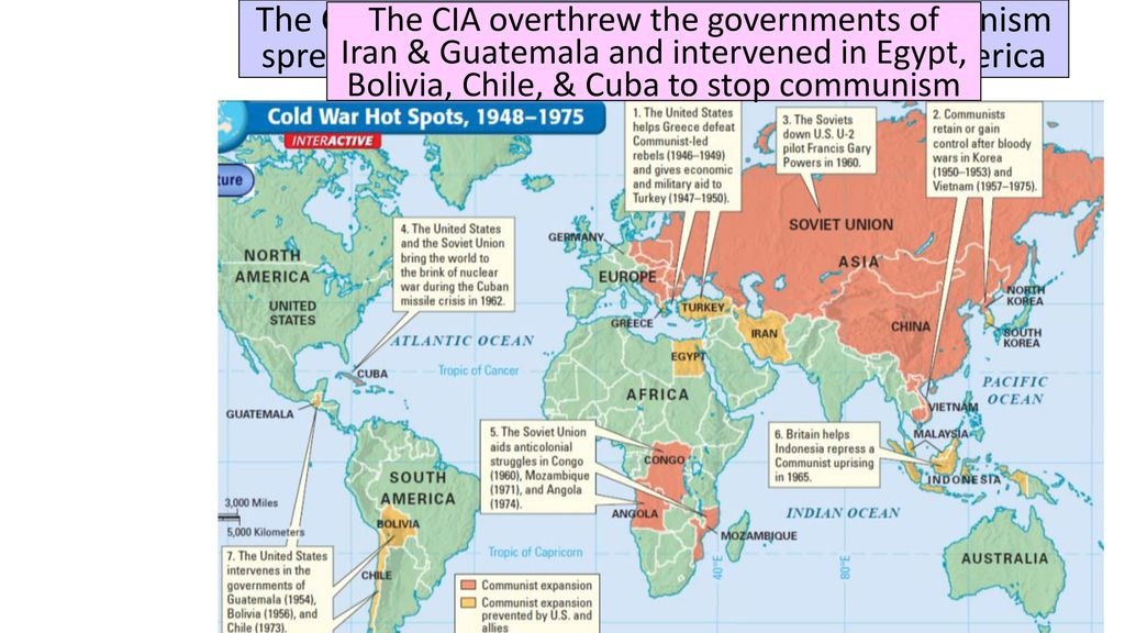 the cold war escalated as the threat of communism spread into the middle east africa