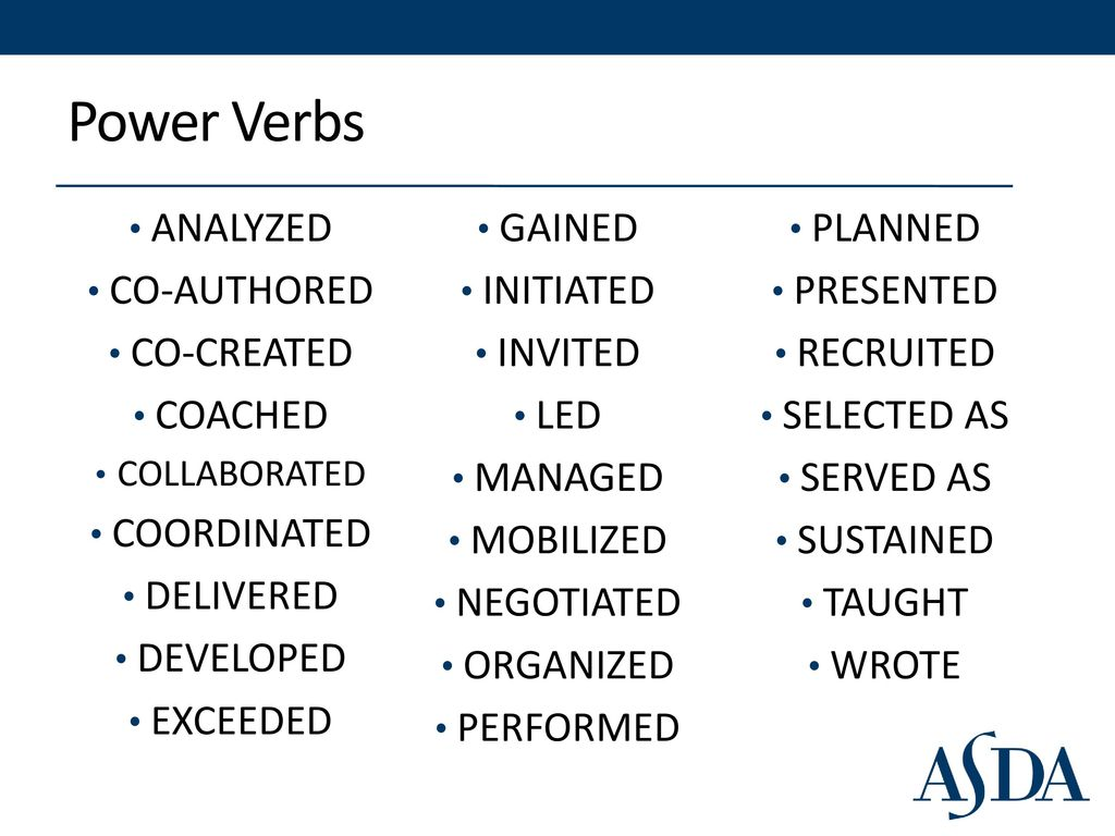 Resume Power Verbs And Resume Loan Contracts Templates  Resume Power Verbs