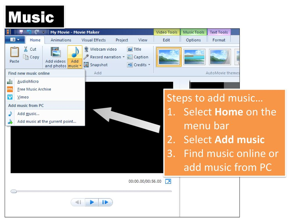 how to add music bars into