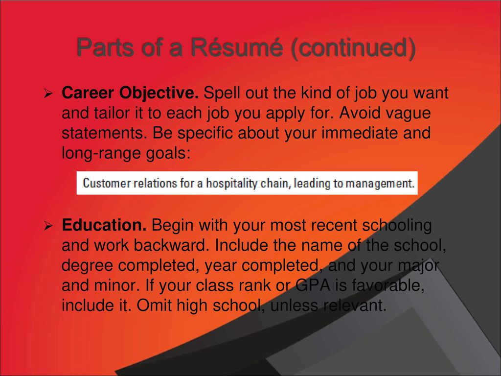chapter 17 r u00e9sum u00e9s and other employment