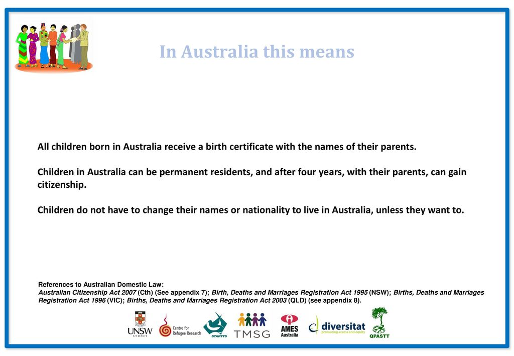 THE RIGHTS OF CHILDREN IN AUSTRALIA: An Introduction for People who
