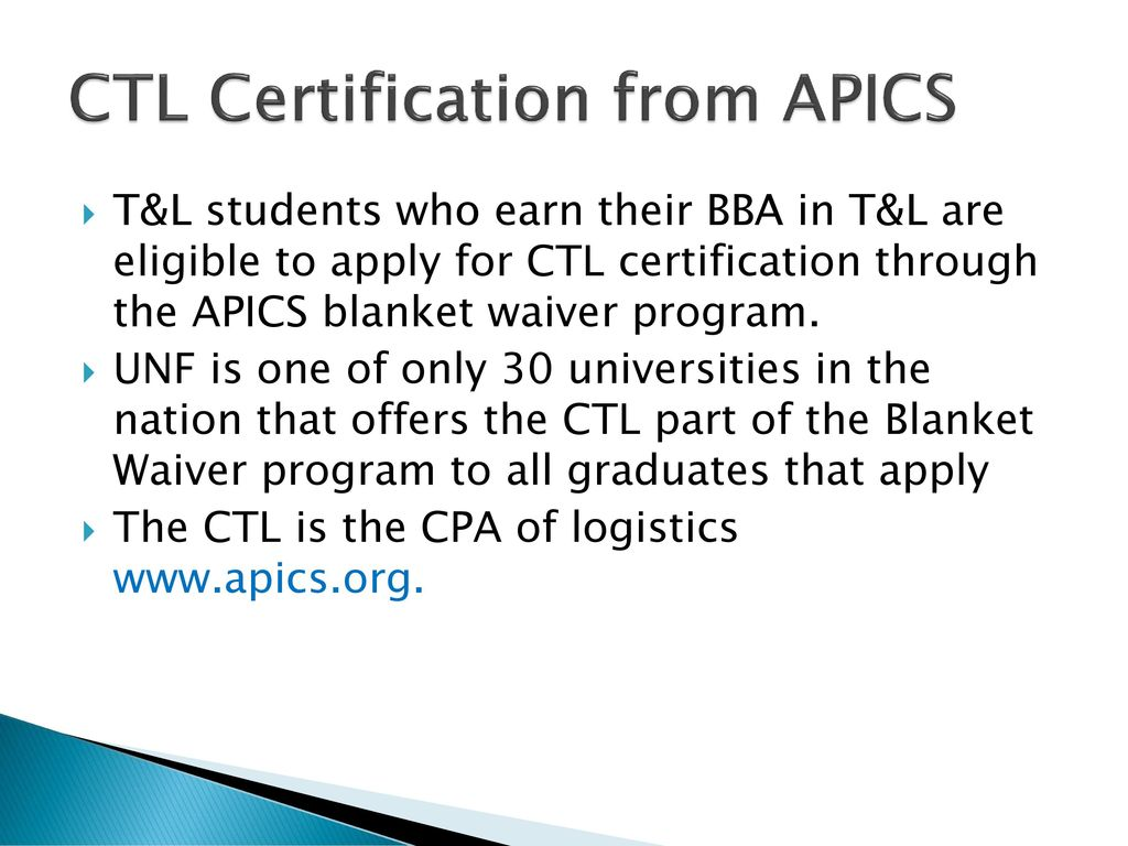Transportation logistics career day ppt download ctl certification from apics xflitez Choice Image