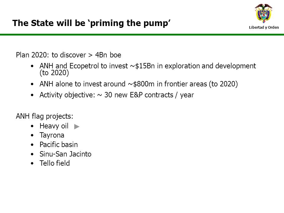 The State will be 'priming the pump'