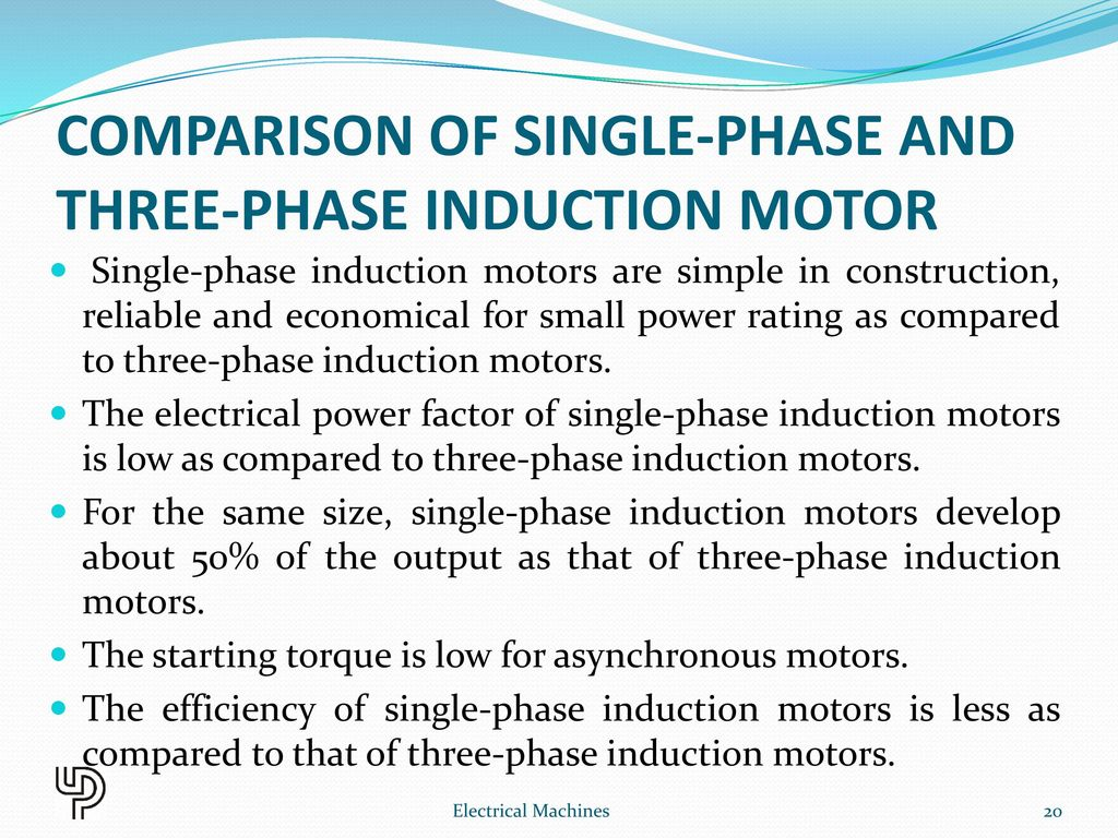 Single phase induction motor ppt download for Single phase motor efficiency
