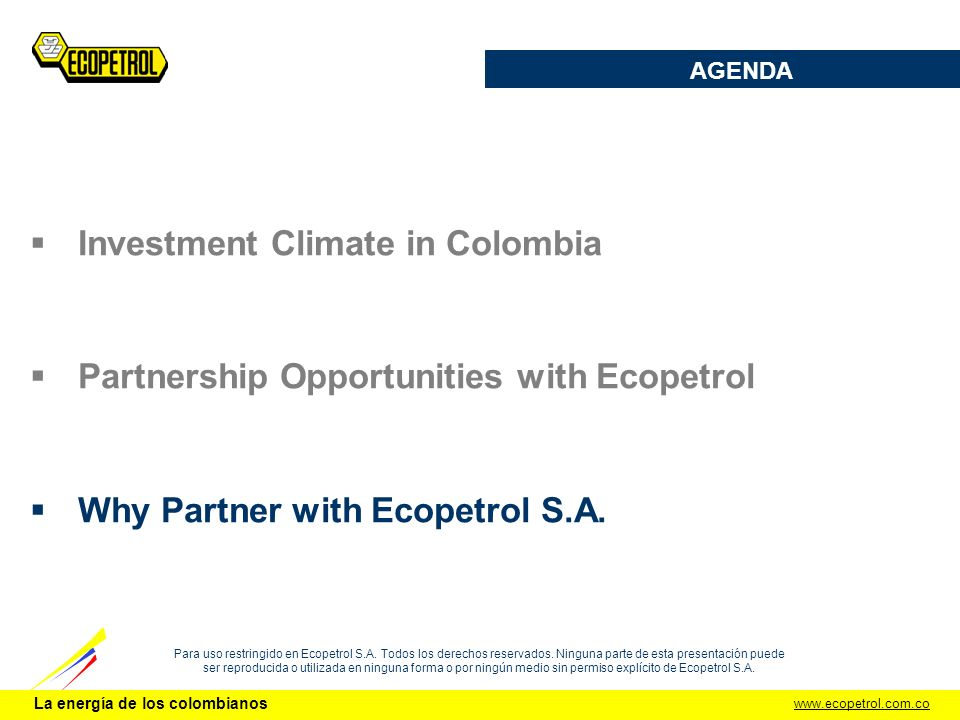 Investment Climate in Colombia