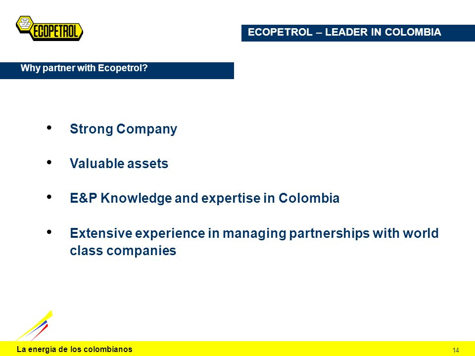 E&P Knowledge and expertise in Colombia