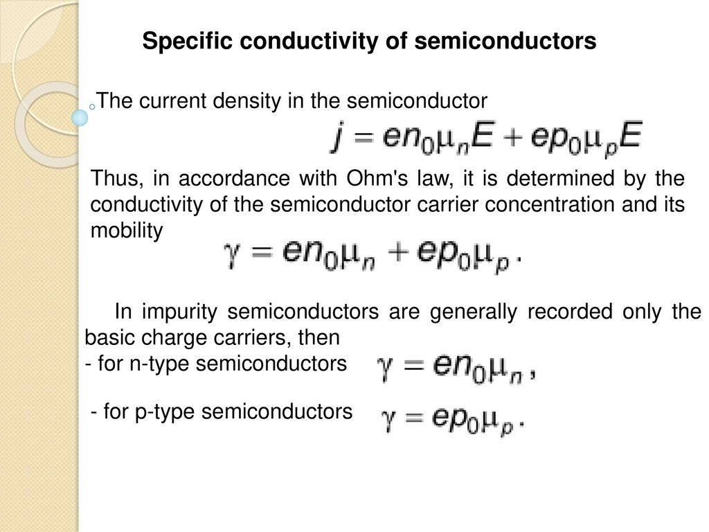 mobility and conductivity in semiconductors pdf