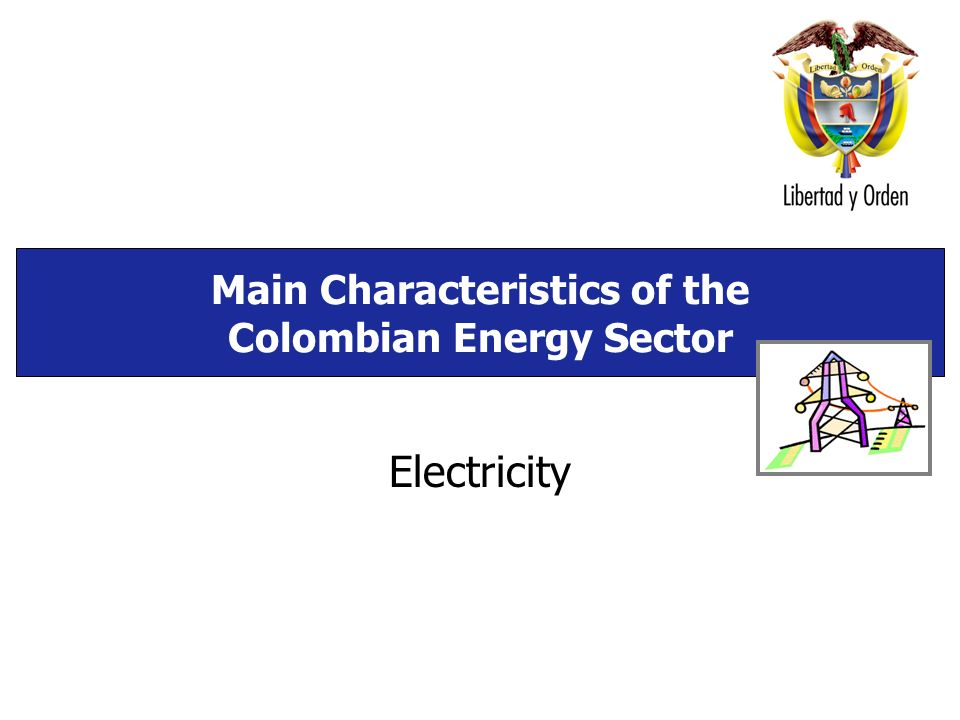 Main Characteristics of the Colombian Energy Sector