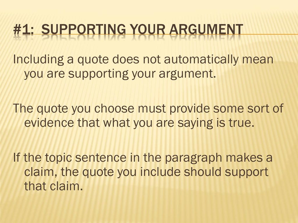 Supporting Quotes Integrating Quotes When You Write About A Story Or An Article The