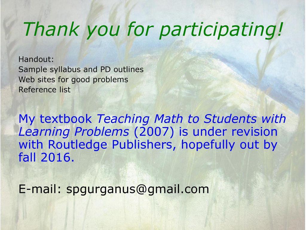 The Power of Problem Posing for Teacher Development in Mathematics ...