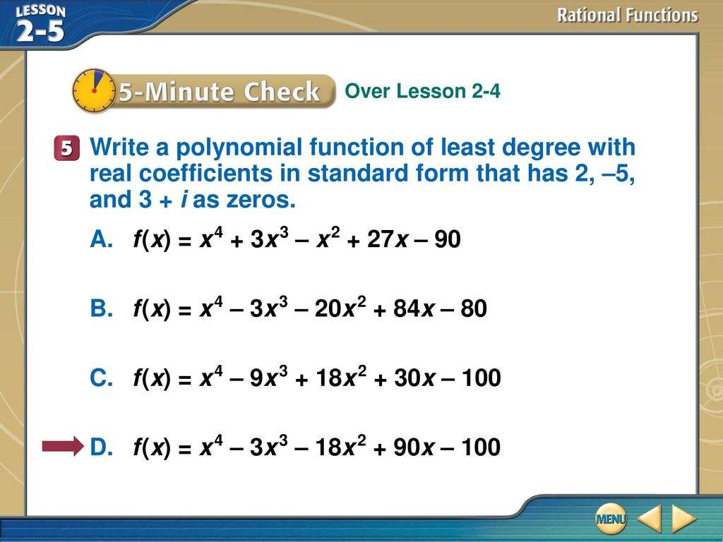 Splash screen ppt download write a polynomial function of least degree with real coefficients in standard form that has 2 falaconquin