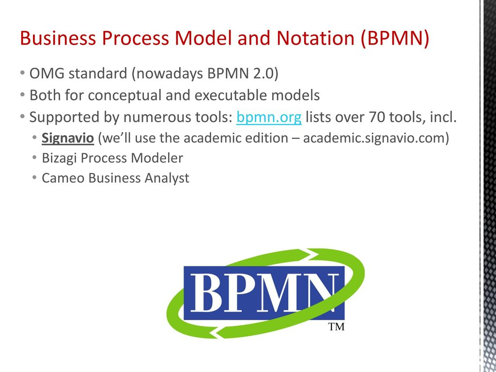 BPMN Specification Business Process Model and Notation 1271529 ...