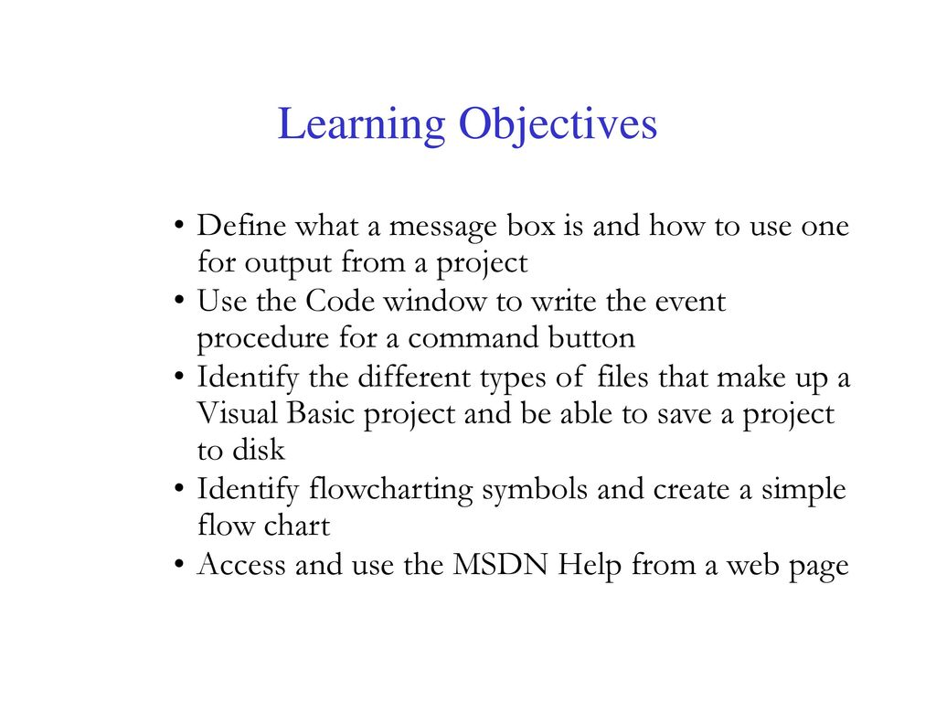 How to Write an Objective for a Project