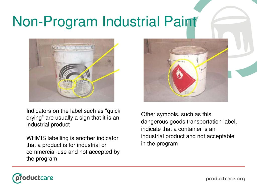 Paint stewardship in canada information training tutorial ppt 18 non program industrial paint biocorpaavc Choice Image